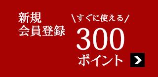 新規会員登録ですぐに使える300ポイントプレゼント